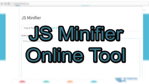 JS Minifier OnlineTool
