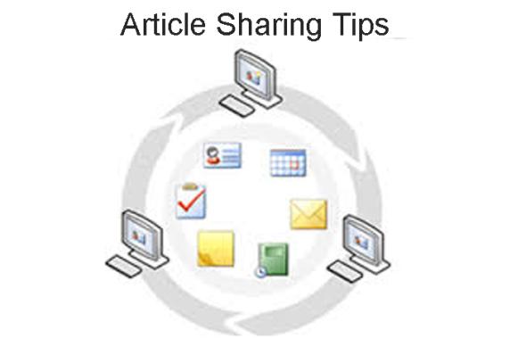 Article sharing-tips  – Advantages vs. Disadvantages.