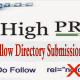 High PR 100 free directory submissions.