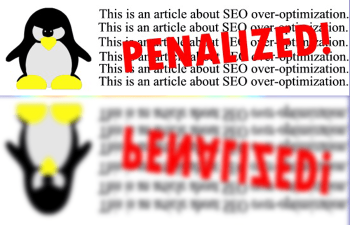 Over optimization penalty by Google
